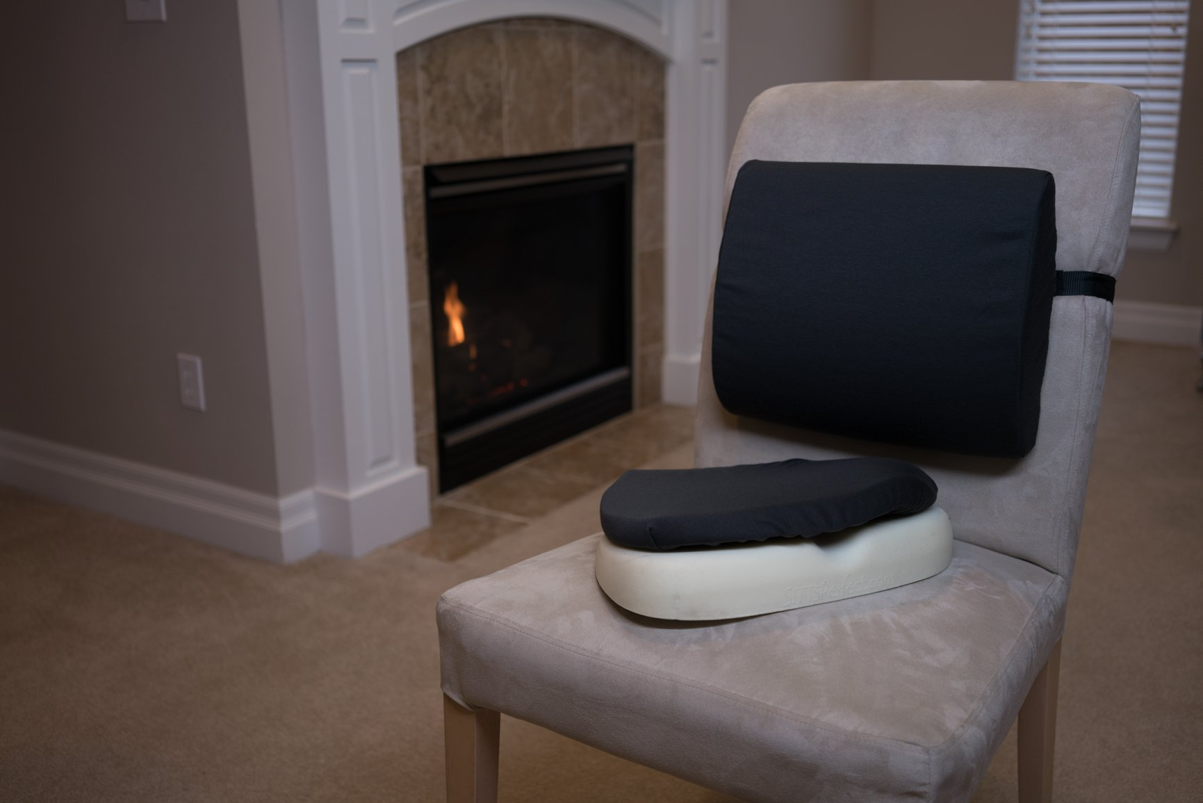 Lumbar Support and Posture Cushion with memory foam